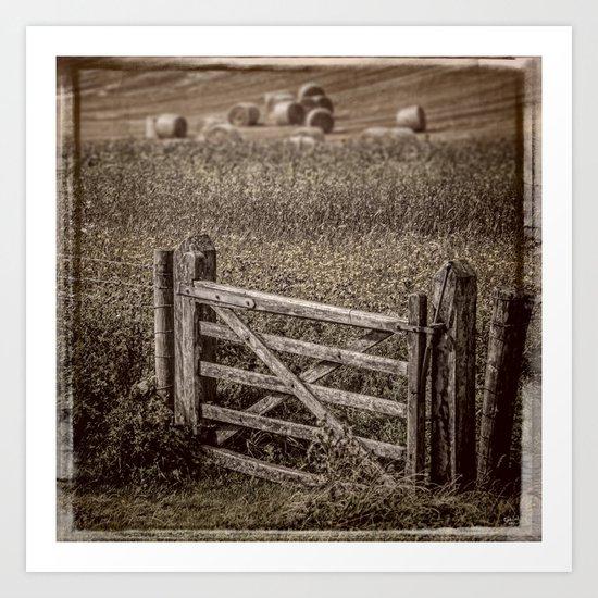 Country Gate Art Print