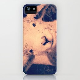 Innocence (Smiling White Baby Sheep) iPhone Case