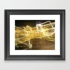 Light Photography Framed Art Print