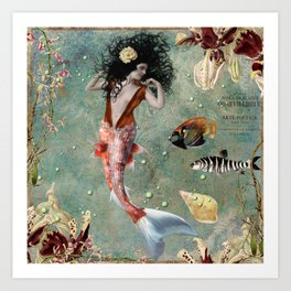 She lives in the deep blue sea. Art Print