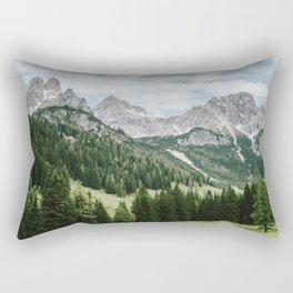 Austrian Alps Summer Landscape Rectangular Pillow