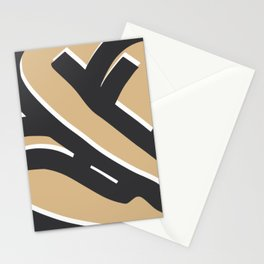 Bold sitting nude abstract pose Stationery Cards