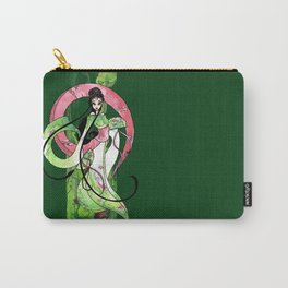 Geisha in Green with Koi and lotus Flowers Carry-All Pouch