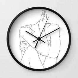 Nude life drawing figure - Celina Wall Clock