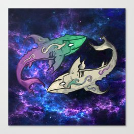 Cosmic Shark Canvas Print