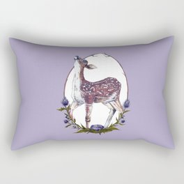 Fawn and Thistle Rectangular Pillow