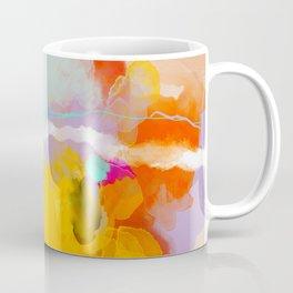 yellow blush abstract Coffee Mug