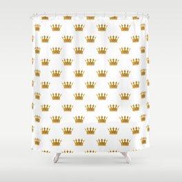 Wedding White Gold Crowns Shower Curtain