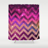 chevron Shower Curtains featuring  CHEVROn by Monika Strigel
