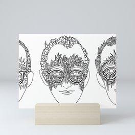 Keith Haring Tribute all three Mini Art Print