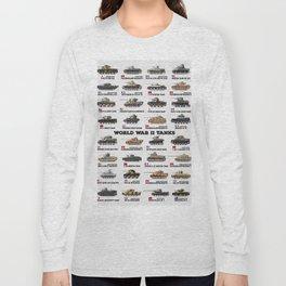 World War II Tanks Long Sleeve T-shirt