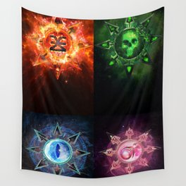 Chaos Icons - Banner Wall Tapestry