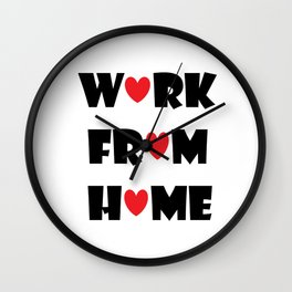 Work From Home (white) Wall Clock