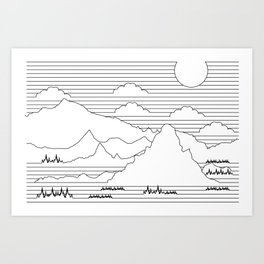 Mountains and Lines Art Print