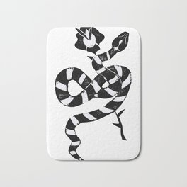 Snake & flower Bath Mat