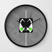 spawn Wall Clocks featuring Marshmallow Spawn by Oblivion Creative