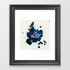 Bleu Corbeau Framed Art Print