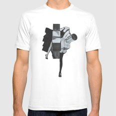 Wisconsin Avenue MEDIUM White Mens Fitted Tee