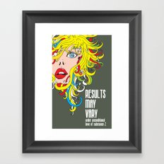 Results May Vary Framed Art Print