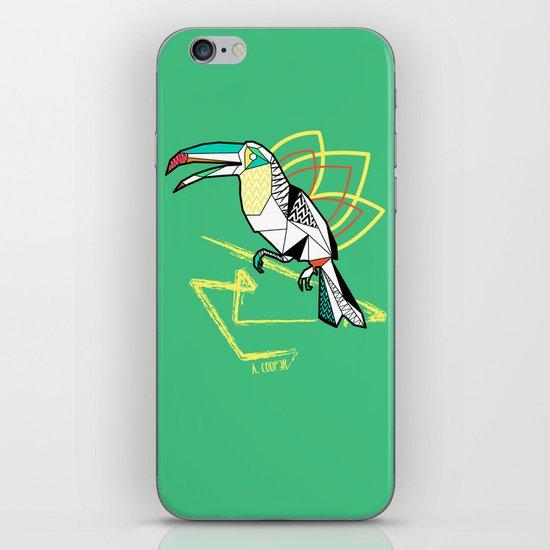 Geometric toucan iPhone Skin