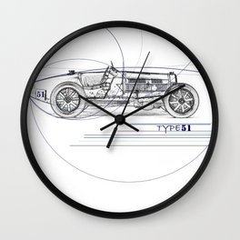 RennSport Speed Series: Type 51 Wall Clock