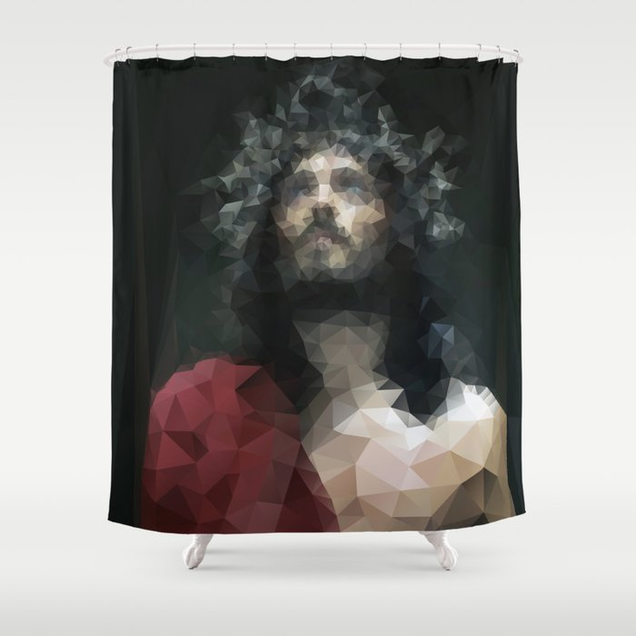 The Lord Jesus Shower Curtain By Philipekling