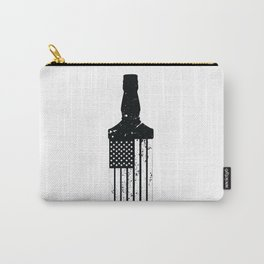 Whiskey American Flag Carry-All Pouch