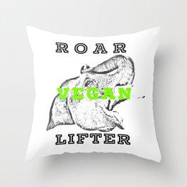 Roar Vegan Lifter Elephant Throw Pillow