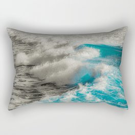 Crashing Waves Artistic Processed Photo Rectangular Pillow