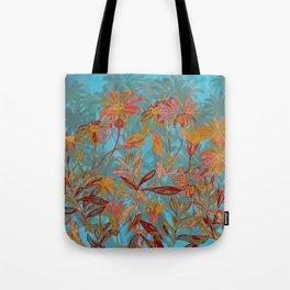 Fantasy Fall Flowers Tote Bag