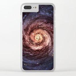 Spiral Galaxy Clear iPhone Case