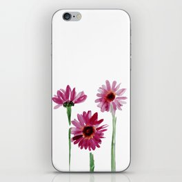 Rose chamomile watercolor iPhone Skin
