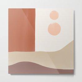 Abstract Terra Desert Window Metal Print