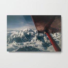 Flying Around Denali Metal Print