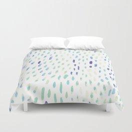 Watercolor Mink - Mint & Sapphire Duvet Cover