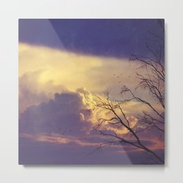 Winter Day's End Metal Print