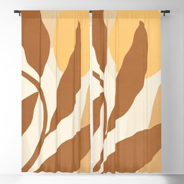 ABSTRACT ART - TROPICAL 04 Blackout Curtain