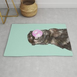 Otter with Bubble Gum Rug