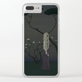 moonlit bloom Clear iPhone Case