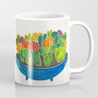 succulents Mugs featuring Succulents by Cat Coquillette
