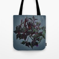 dark side of the moon Tote Bags featuring Dark side of the moon by Ordiraptus