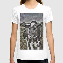Melancholic Black White Dutch Cow T-shirt