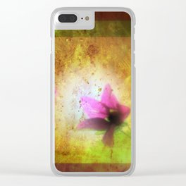 marriage of Titania; Salmon berry floral duet Shakespearean hidden pictures Clear iPhone Case