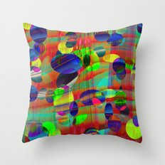 Dots and Curves Throw Pillow