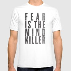 FEAR IS THE MINDKILLER Mens Fitted Tee MEDIUM White