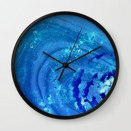 Blue Abstract Modern Art - Infinity - Sharon Cummings Wall Clock