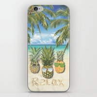 relax iPhone & iPod Skins featuring relax by ulas okuyucu