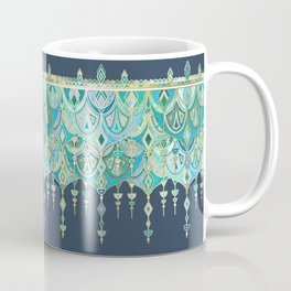 Art Deco Double Drop in Blues and Greens Coffee Mug