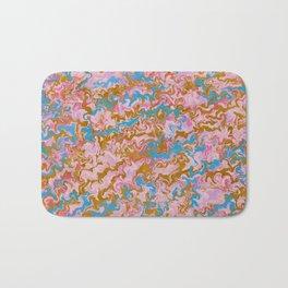 Rose Quartz & Gold Marble Bath Mat