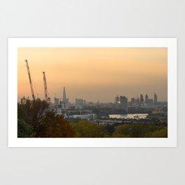 Sunset over London Art Print